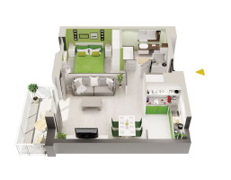 Mieszkanie w inwestycji Zielone Patio Pruszków, Pruszków, 71 m²