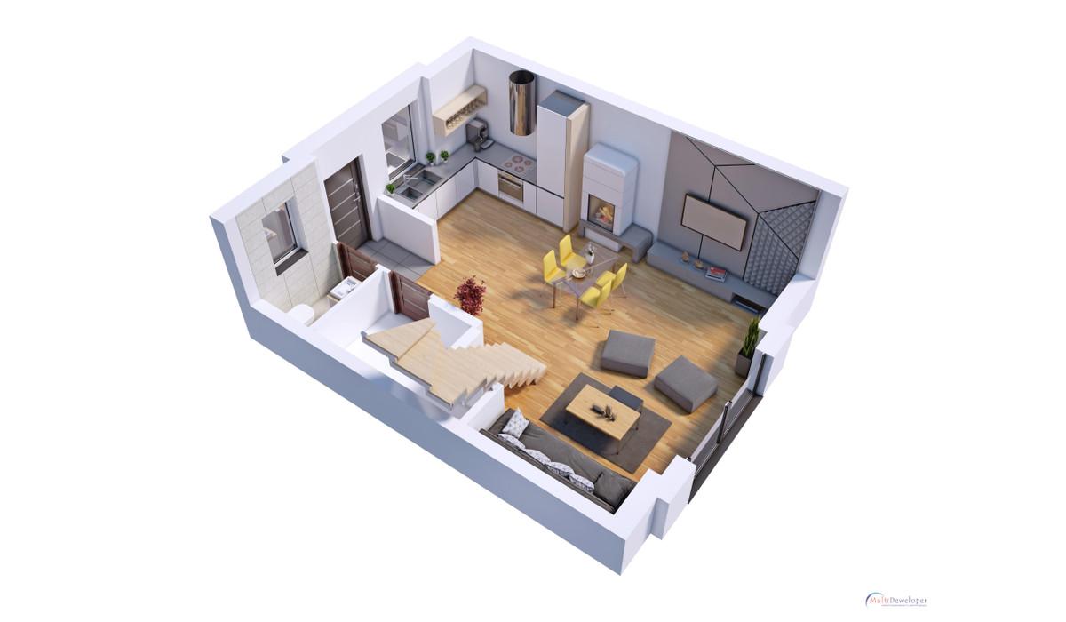 Dom w inwestycji Osiedle Wrzosowe - Gościcino, Gościcino, 73 m²   Morizon.pl   2356