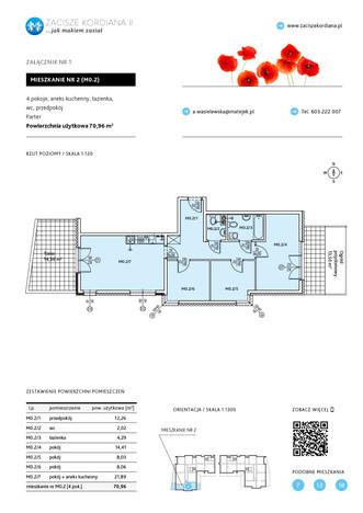 Mieszkanie w inwestycji ZACISZE KORDIANA II, Kraków, 71 m²   Morizon.pl   9010