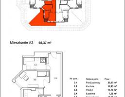 Mieszkanie w inwestycji Osiedle Radosne, Gliwice, 54 m²