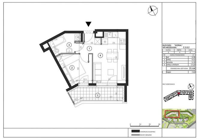 Mieszkanie na sprzedaż, Warszawa Gocław, 36 m² | Morizon.pl | 3719