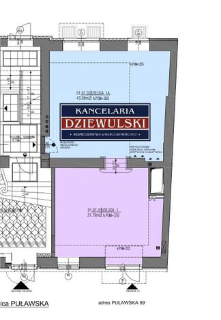 Lokal handlowy do wynajęcia, Warszawa Mokotów, 74 m² | Morizon.pl | 3351