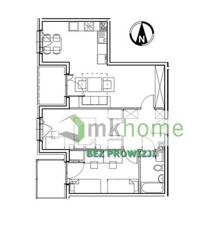 Mieszkanie na sprzedaż, Kraków Os. Prądnik Czerwony, 64 m²   Morizon.pl   3624