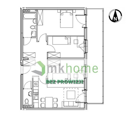 Mieszkanie na sprzedaż, Kraków Os. Prądnik Czerwony, 71 m²   Morizon.pl   4213