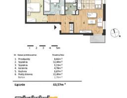 Mieszkanie w inwestycji Osiedle Słoneczne, Bydgoszcz, 64 m²