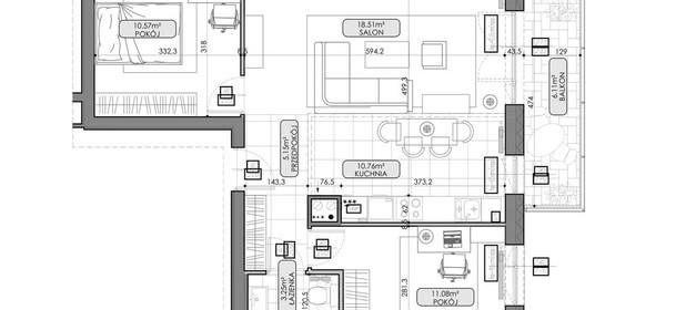 Mieszkanie na sprzedaż 59 m² Lublin Czuby - zdjęcie 3