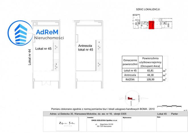 Morizon WP ogłoszenia   Lokal do wynajęcia, Warszawa Mokotów, 110 m²   7764
