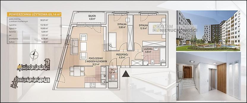 Mieszkanie na sprzedaż, Kraków Podgórze , 69 m² | Morizon.pl | 5430
