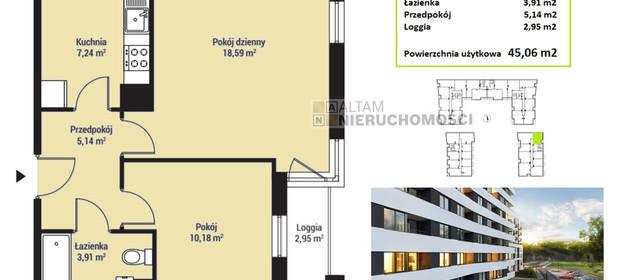 Mieszkanie na sprzedaż 45 m² Kraków M. Kraków Mistrzejowice - zdjęcie 2