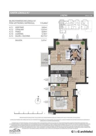 Morizon WP ogłoszenia | Mieszkanie na sprzedaż, Wrocław Złotniki, 115 m² | 1383
