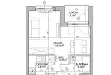 Mieszkanie w inwestycji Mokotów, ul. Kłobucka, Warszawa, 30 m²