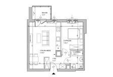 Mieszkanie w inwestycji Ursus, obok PKP Ursus Północy, Warszawa, 43 m²