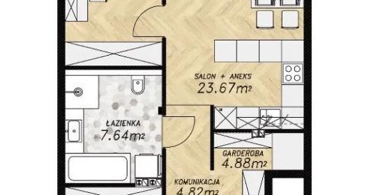Mieszkanie na sprzedaż 67 m² Wrocławski (pow.) Czernica (gm.) Kamieniec Wrocławski Miodowa - zdjęcie 2