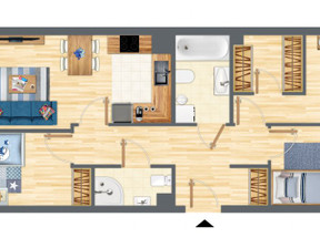 Mieszkanie w inwestycji Słowackiego 77, Gdańsk, 75 m²