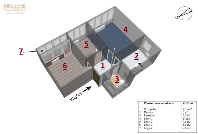 Morizon WP ogłoszenia   Mieszkanie na sprzedaż, Wrocław Szczepin, 45 m²   9522