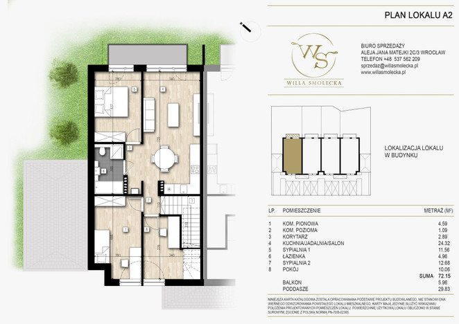 Mieszkanie na sprzedaż, Smolec Chłopska, 72 m² | Morizon.pl | 9526