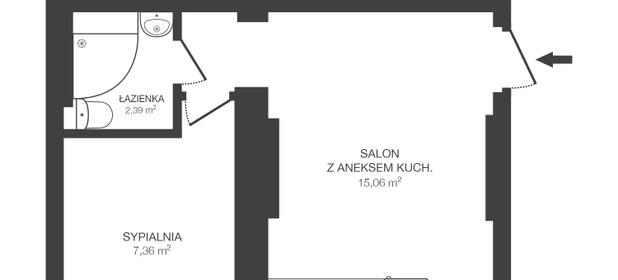 Mieszkanie na sprzedaż 25 m² Poznań Wilda Górna Wilda - zdjęcie 2