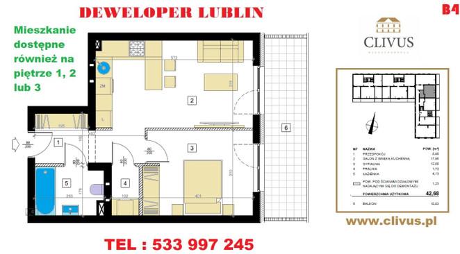 Morizon WP ogłoszenia   Mieszkanie na sprzedaż, Lublin Dziesiąta, 43 m²   6636