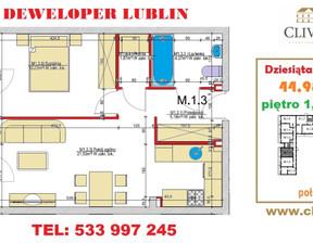 Mieszkanie na sprzedaż, Lublin Dziesiąta, 45 m²