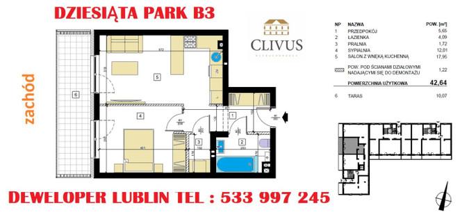 Morizon WP ogłoszenia   Mieszkanie na sprzedaż, Lublin Dziesiąta, 43 m²   6652