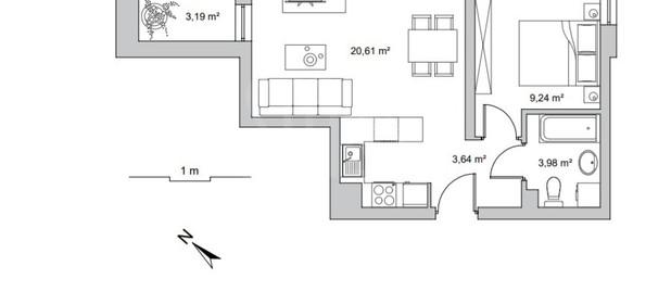 Mieszkanie na sprzedaż 37 m² Wejherowski Rumia Jęczmienna - zdjęcie 3