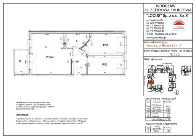 Mieszkanie na sprzedaż, Wrocław Krzyki, 58 m² | Morizon.pl | 1533