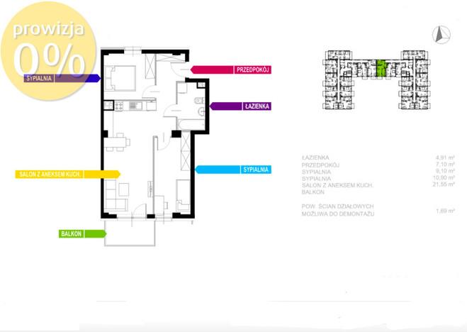 Morizon WP ogłoszenia | Mieszkanie na sprzedaż, Sosnowiec Sielec, 55 m² | 0155