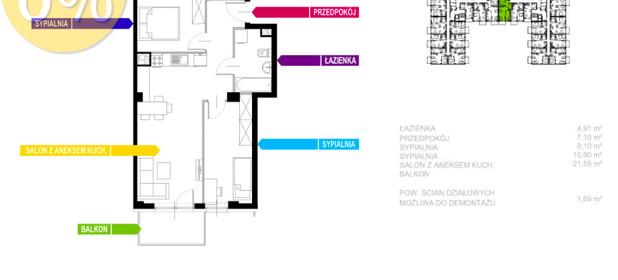Mieszkanie na sprzedaż 55 m² Sosnowiec Sielec Klimontowska - zdjęcie 2