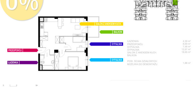 Mieszkanie na sprzedaż 53 m² Sosnowiec Sielec Klimontowska - zdjęcie 2