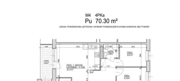 Mieszkanie na sprzedaż 70 m² Lublin Czuby / Węglin Południowy - Węglinek Kwarcowa - zdjęcie 2