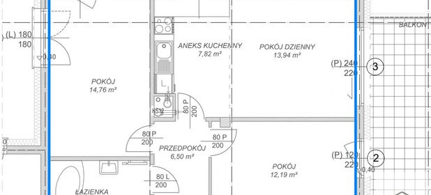 Mieszkanie na sprzedaż 61 m² Lublin Śródmieście Obrońców Pokoju - zdjęcie 3