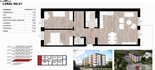 Mieszkanie na sprzedaż 77 m² Opole M. Opole Czarnowąsy - zdjęcie 1