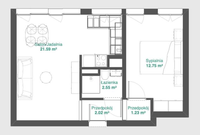 Mieszkanie na sprzedaż, Wrocław Szczepin, 43 m²   Morizon.pl   1956