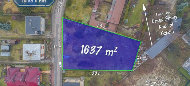 Działka na sprzedaż 1681 m² Myszkowski Poraj Spokojna - zdjęcie 2
