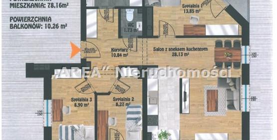Mieszkanie na sprzedaż 78 m² Białystok M. Białystok Antoniuk Wysoka - zdjęcie 2
