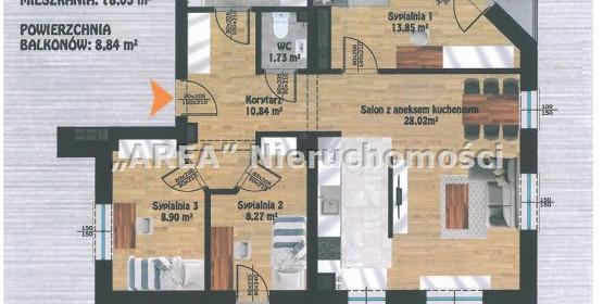 Mieszkanie na sprzedaż 78 m² Białystok M. Białystok Antoniuk Wysoka - zdjęcie 3