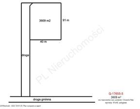 Działka na sprzedaż, Chrzanów Mały, 3609 m²