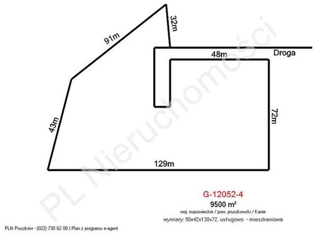 Morizon WP ogłoszenia | Działka na sprzedaż, Kanie, 5800 m² | 3281