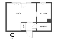 Kawalerka na sprzedaż, Łódź Polesie, 31 m²