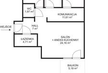 Mieszkanie na sprzedaż, Warszawa Służewiec, 80 m²