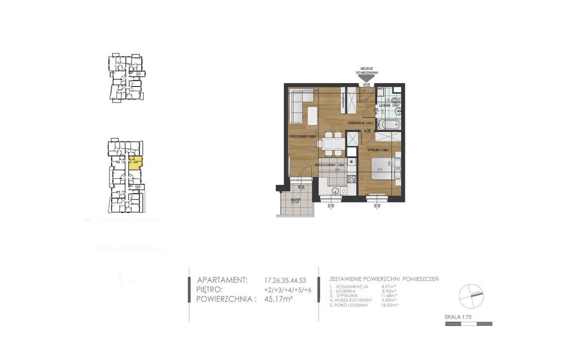 Mieszkanie w inwestycji Mokra 10, Łódź, 46 m²   Morizon.pl   1372