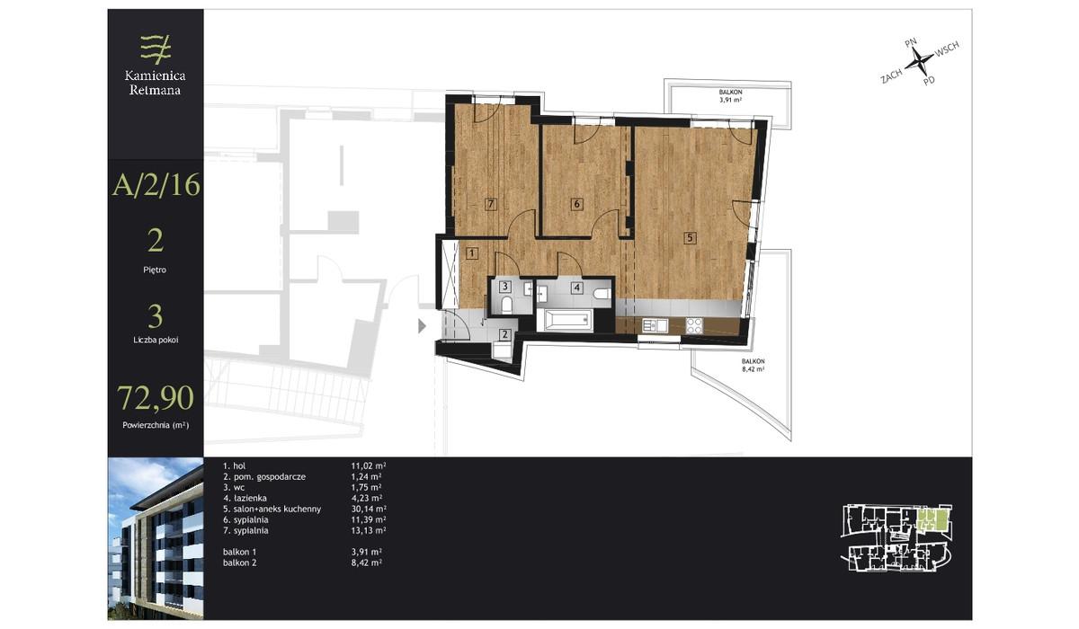 Mieszkanie w inwestycji Kamienica Retmana, Kraków, 73 m² | Morizon.pl | 9983