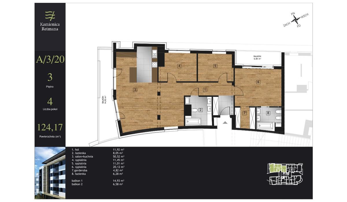 Mieszkanie w inwestycji Kamienica Retmana, Kraków, 124 m² | Morizon.pl | 9986
