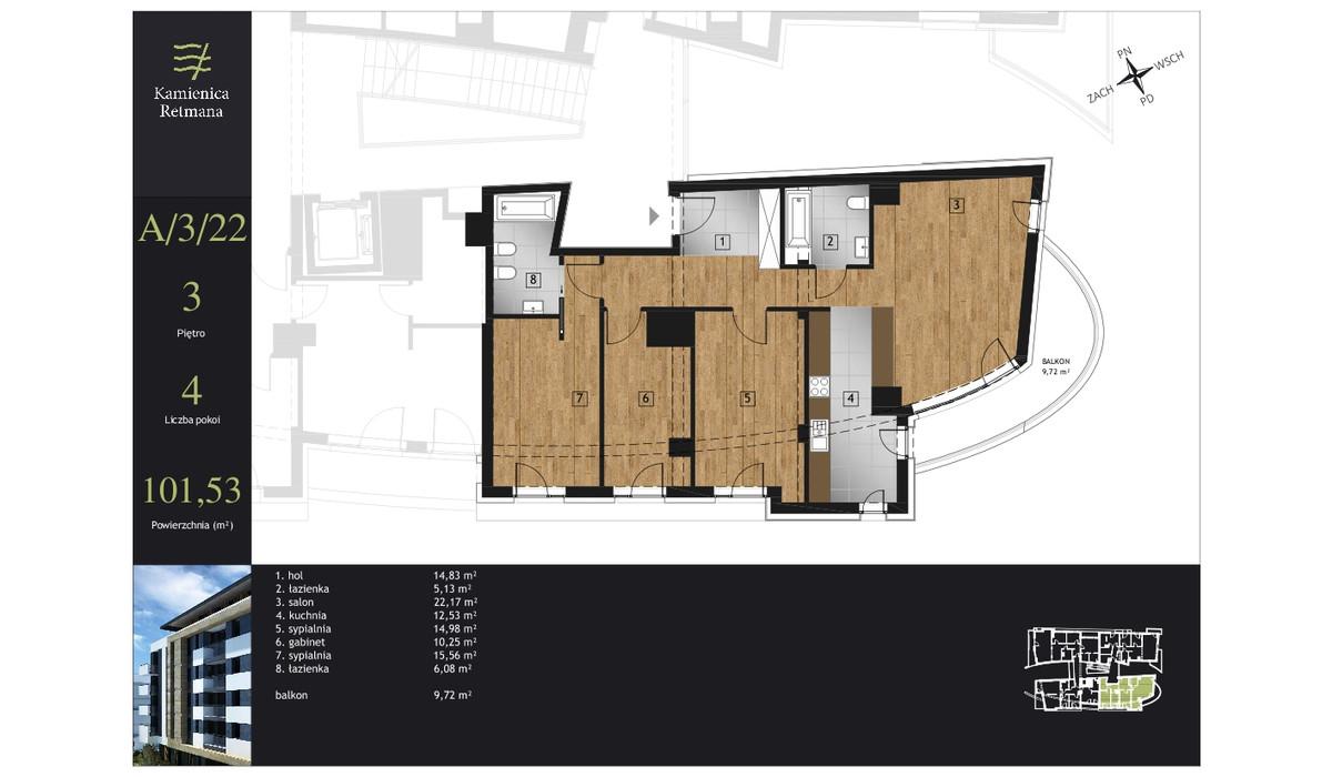 Mieszkanie w inwestycji Kamienica Retmana, Kraków, 102 m² | Morizon.pl | 9988