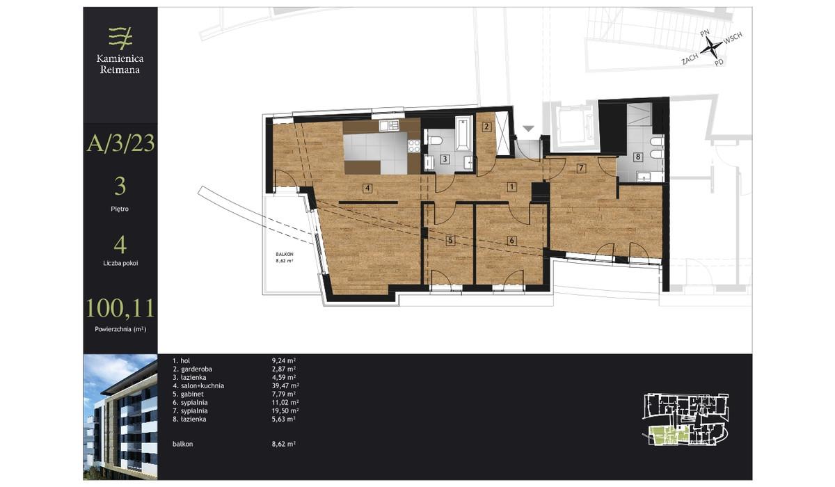 Mieszkanie w inwestycji Kamienica Retmana, Kraków, 100 m² | Morizon.pl | 9989