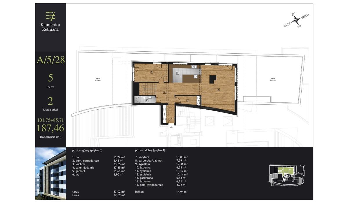 Mieszkanie w inwestycji Kamienica Retmana, Kraków, 187 m² | Morizon.pl | 9991