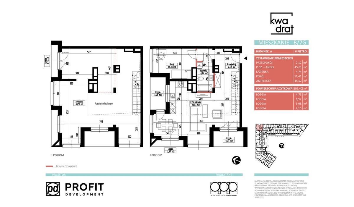 Mieszkanie w inwestycji Kwadrat, Wrocław, 92 m² | Morizon.pl | 9697