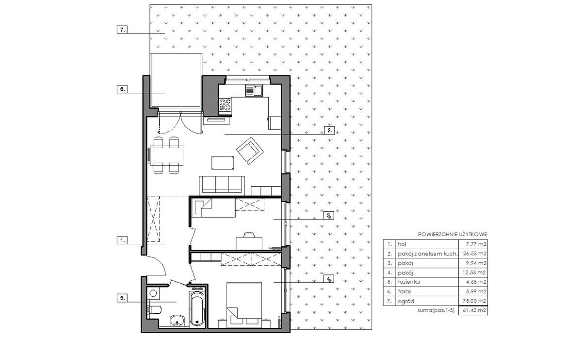 Mieszkanie w inwestycji Signum, Gdynia, 65 m²   Morizon.pl   6483