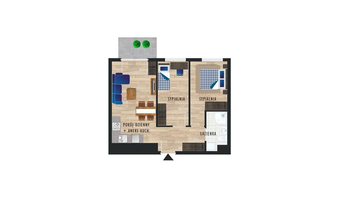 Mieszkanie w inwestycji Karoliny V, Katowice, 49 m² | Morizon.pl | 0506