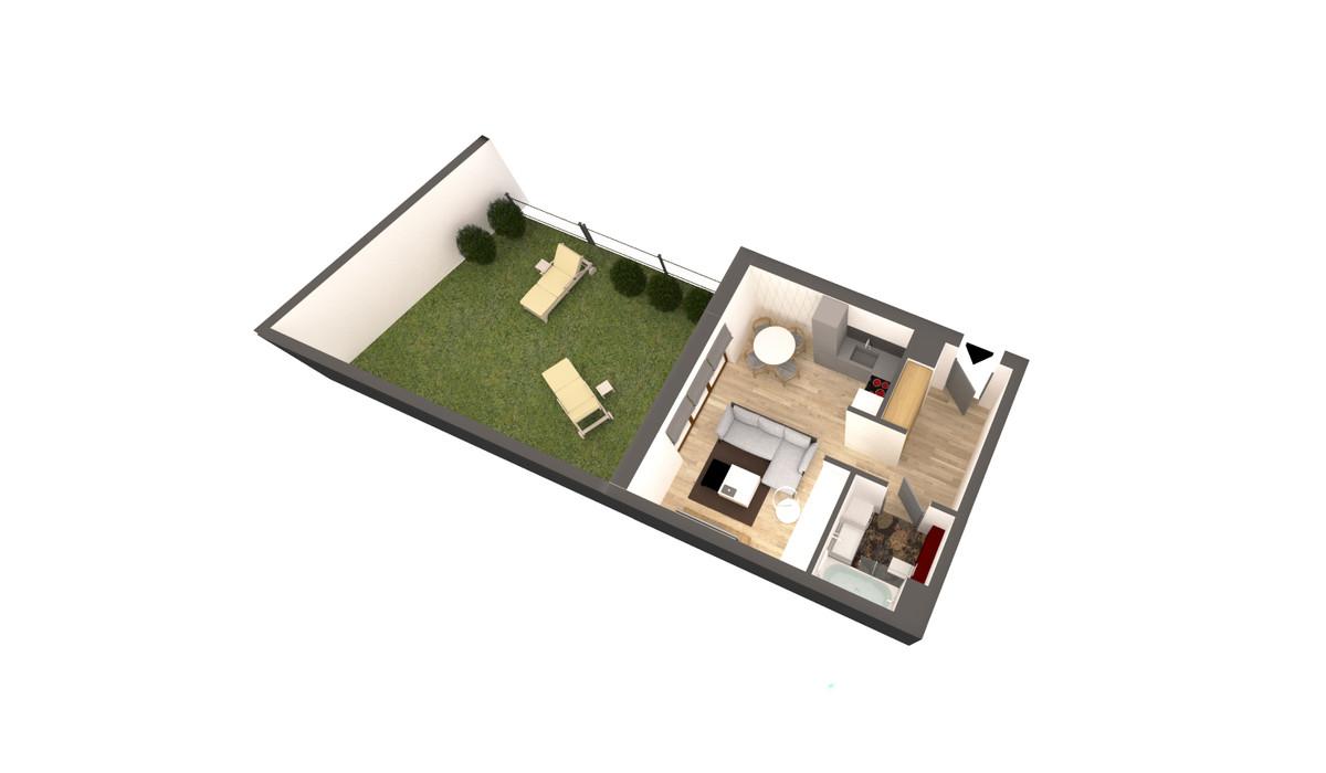 Mieszkanie w inwestycji APARTAMENTY DĄBROWSKIEGO, Kraków, 35 m²   Morizon.pl   3599